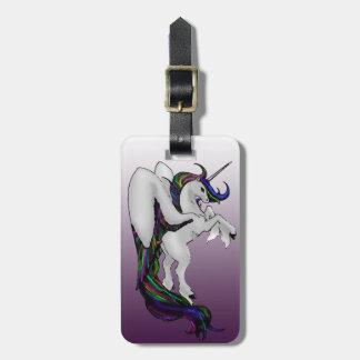 Winged Unicorn: Rainbow Bag Tag