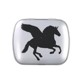 Winged Unicorn Silhouette