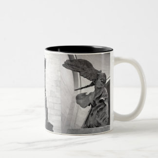 Winged Victory of Samothrace Nike Greek Sculpture  Two-Tone Coffee Mug