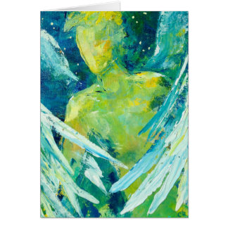"""""""Winged Watchman"""" by Chris Rice Note Cards"""