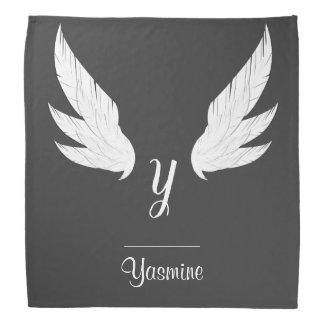 Winged White Monogram | Bandana