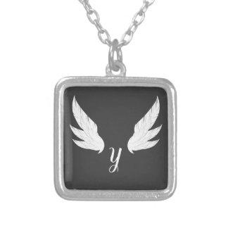 Winged White Monogram | Necklace