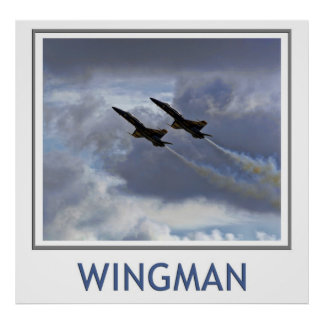 Wingman Blue Angels Poster