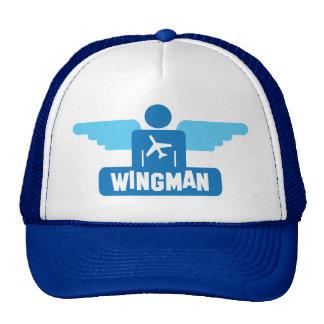 wingman pilot design trucker hat