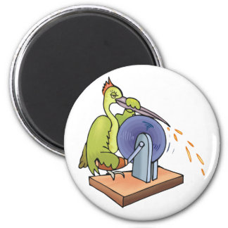 Wingo Woodpecker 2 Inch Round Magnet