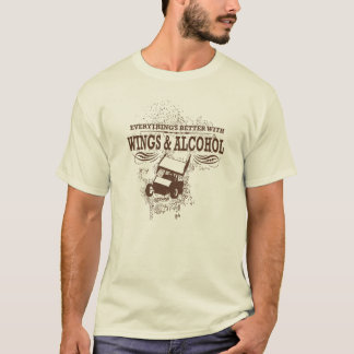 Wings & Alcohol Sprint Car T-Shirt