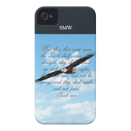 Wings as Eagles, Isaiah 40:31 Christian Bible Blackberry Bold Covers