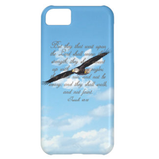 Wings as Eagles, Isaiah 40:31 Christian Bible Cover For iPhone 5C