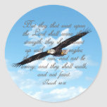 Wings as Eagles, Isaiah 40:31 Christian Bible Sticker