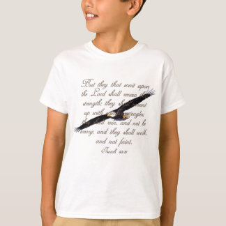 Wings as Eagles, Isaiah 40:31 Christian Bible T-Shirt