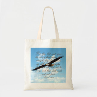 Wings as Eagles, Isaiah 40:31 Christian Bible Tote Bag