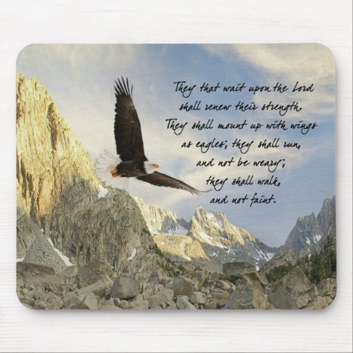 Wings As Eagles Isaiah 4o:31 Mousepads