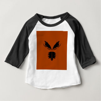 Wings black ethno on brown baby T-Shirt