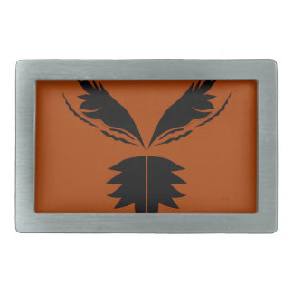 Wings black ethno on brown belt buckles