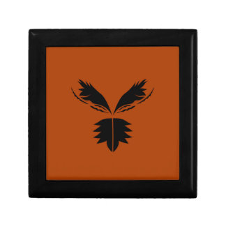 Wings black ethno on brown gift box