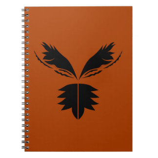 Wings black ethno on brown notebooks