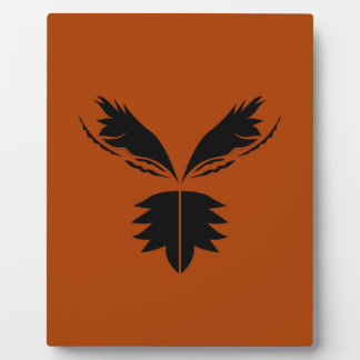 Wings black ethno on brown plaque