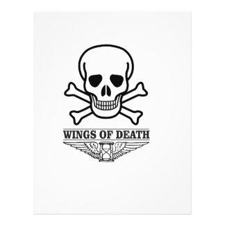 wings of death letterhead template
