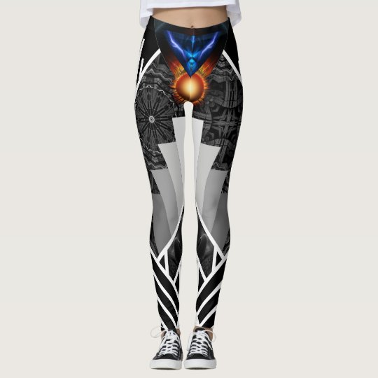 Wings Of Lightning Deco Mech Flare AOP Leggings