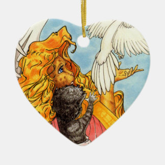 Wings of Love Ceramic Ornament