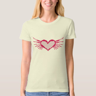 Wings Of Love Grunge Style T-Shirt