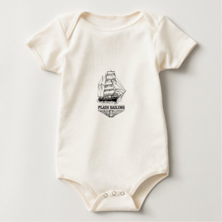 wings of plain sailing baby bodysuit
