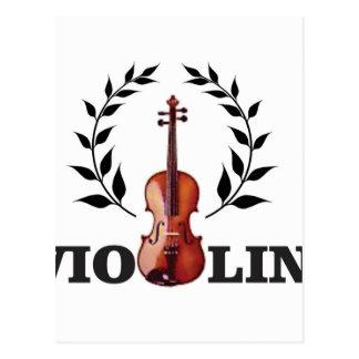 wings of violin postcard