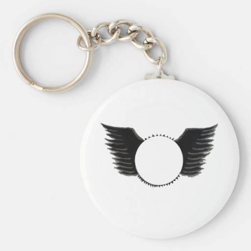 Wings photo template key chains