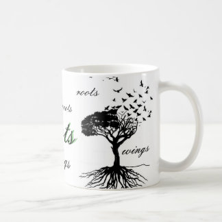 Wings & Roots Coffee Cup Birds Flying Mug Home