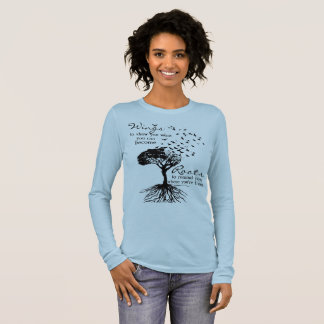 Wings & Roots Women's Canvas Long Sleeve T-Shirt