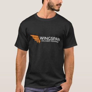 WINGSPAN Delivery Services Logo and Slogan Tee