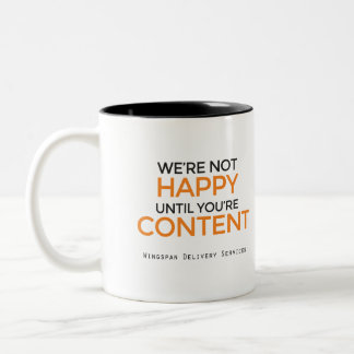 WINGSPAN Delivery Services slogan mug