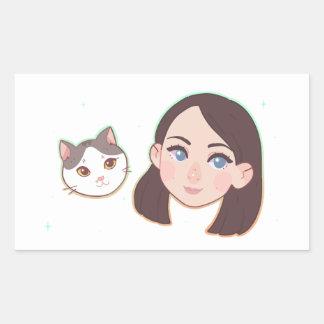 Wini and Matty Rectangle Sticker
