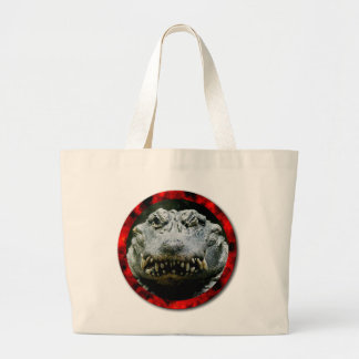 Wink and a Smile (Chinese Alligator) Jumbo Tote Bag