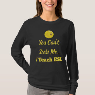 Wink Emoji ESL Scare Teacher T-Shirt
