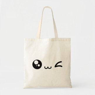 wink eye tote bag