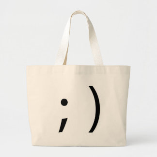wink face! tote bags