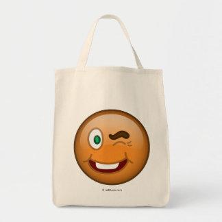 Wink Grocery Tote Bag