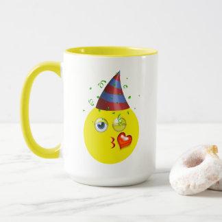 Wink & Kiss Birthday Emoji Mug