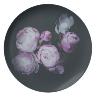 Wink Rose Buds dark background Plate