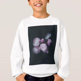 Wink Rose Buds dark background Sweatshirt