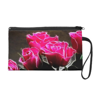 wink roses wristlet clutches