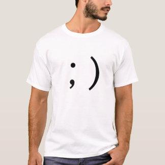 ;) Wink Sideways Winky Text Emoticon T-Shirt
