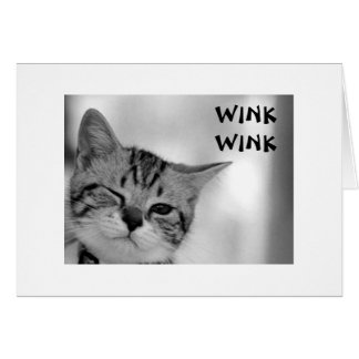 WINK WINK - KITTEN SENDING FLIRTS FOR BIRTHDAY CARD