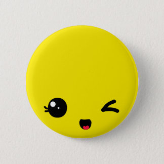 Winking 2 Inch Round Button