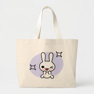 Winking Bunny Tote Jumbo Tote Bag