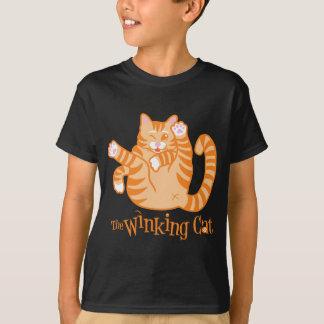 winking cat child t shirt
