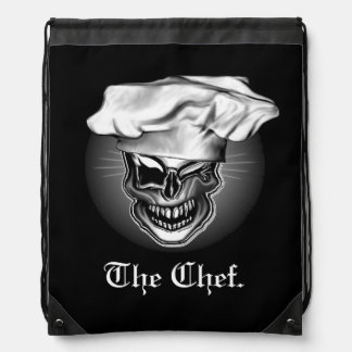 Winking Chef Skull Cinch Bags