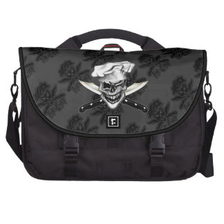 Winking Chef Skull Laptop Shoulder Bag