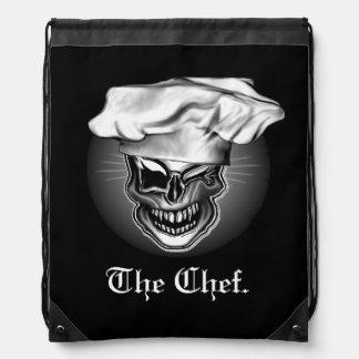 Winking Chef Skull Cinch Bags